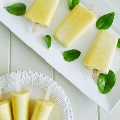 Mango yogurt ice pops. I'm loving the rounded sticks!
