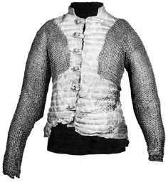 A 16th-century arming doublet of quilted leather from Germany