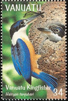 Vanuatu Kingfisher stamps - mainly images - gallery format