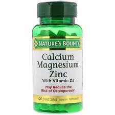 Calcium Magnesium Zinc With Vitamin D3 100 Coated Caplets In 2020 Calcium Magnesium Zinc Vitamin Nature S Bounty