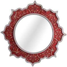 "Marrakesh Dreams Decorative Wood Mirror, 24""ROUND x 2""D, RED SILVER Home Decorators Collection,http://www.amazon.com/dp/B007RDQOA8/ref=cm_sw_r_pi_dp_t4SMsb1RJEJEM8CE"