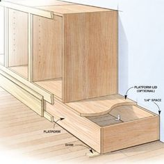 Shortcuts for Custom Cabinets and Built-Ins - from The Family Handyman DIY built ins such as built-in cabinets, bookcases, and shelving are faster, easier and better with these tips from a veteran cabinetmaker. Diy Kitchen Cabinets, Built In Cabinets, Custom Cabinets, Storage Cabinets, Base Cabinets, Plywood Cabinets, Kitchen Remodeling, Cupboards, How To Build Cabinets