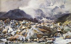 Sargent - Simplon Pass- Avalanche Track, 1911