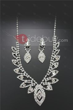 Amazing Alloy with Rhinestone Wedding Jewelry Set(Including Necklace and Earrings) : Tidebuy.com