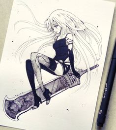 "12.7k Likes, 105 Comments - izu (@izunee) on Instagram: ""A2 . v . Any Nier fans among my followers?"""