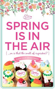 Pin It to Win It contest! Pin this Happy Spring dozen and win one for yourself! Place an order for Easter by calling 707.282.5333 www.siftcupcakes.com You must follow us on Pinterest to qualify as a winner. *Contest ends 4/5/12 at 5pm.Winner will be notified through Pinterest. Must be able to pick up the winning dozen by 4/14 in one of our retail stores. Call 707-282-5333 for more details or to place an order at your nearest Sift location!