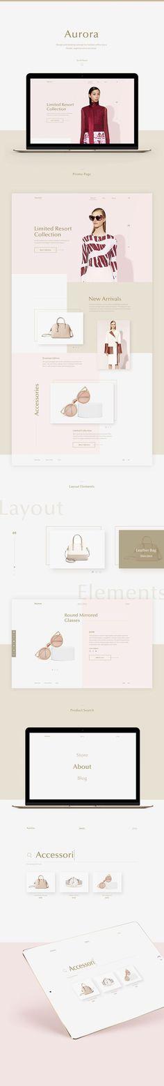 Aurora Fashion Web Design by Yaroslava Velichko | Fivestar Branding Agency – Design and Branding Agency & Curated Inspiration Gallery  #fashion #fashionwebdesign #website #webdesign