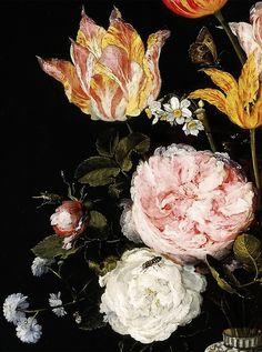 Jan Brueghel the Elder, Vase of Flowers (detail), c.1612.