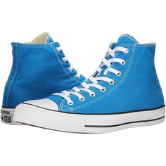 Converse Chuck Taylor All Star Seasonal Hi (Cyan Space) Classic Shoes ($33) ❤ liked on Polyvore featuring shoes, sneakers, converse, blue, converse shoes, converse high tops, metallic sneakers, blue sneakers and metallic high top sneakers
