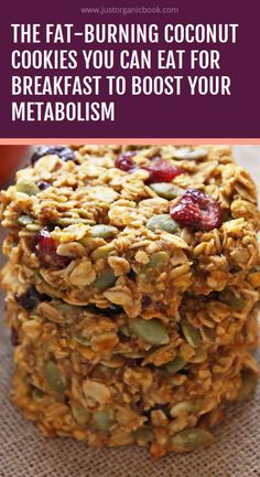 breakfast cookies The Fat-Burning Coconut Cookies You Can Eat For Breakfast to Boost Your Metabolism Coconut Cookies, Healthy Cookies, Healthy Snacks, Healthy Eating, Healthy Breakfast Cookies, Protein Cookies, Figs Breakfast, Healthy Biscuits, Coconut Biscuits