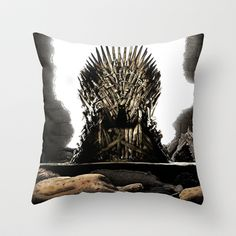 In The End Throw Pillow by Tummeow - $20.00