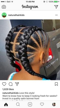 Natural hair styles for kids. #ad