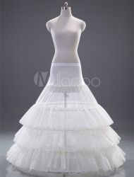 Fashion White Polyester Ball Gown Slip Wedding Petticoat for Brides