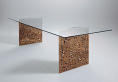 Architect Steven Holl and Nick Gelpi used laser cutting to create the table legs for this beautiful table design for online store HORM
