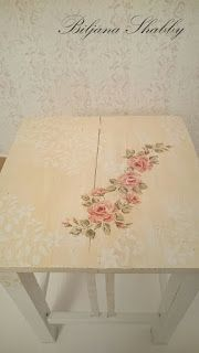 FEATURED!!! Biljana Shabby: How to paint and edit the old wooden chair in shabby chic style?