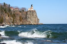 One of my favorite summer vacation spots: Split Rock Lighthouse along the shores of Lake Superior.