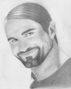 Seth Rollins by Elantiel on DeviantArt Roman Reigns Drawing, Burn It Down, Seth Rollins, Cool Art Drawings, Deviantart