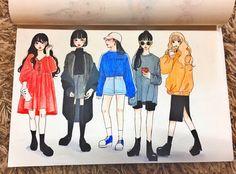 Drawing Art Diary, Fashion Art, Fashion Design, Fashion Sketches, Designs To Draw, Cartoon Art, Art Reference, Pop Art, Art Drawings