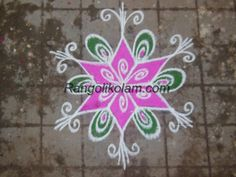 Small colour kolam