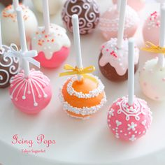 Birthday Cake Pops Pop Bouquet Happy Pretty Cakes