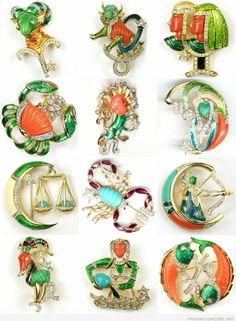 Signs of the Zodiac pins