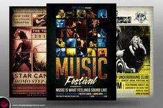 Live Band Flyer Bundle V2 by Thats Design Studio on Creative Market