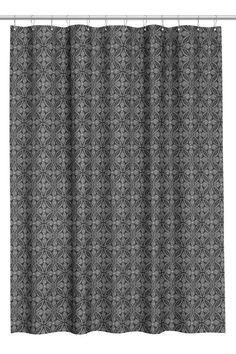 Zasłona prysznicowa we wzory - Antracytowoszary/Natur. biel - HOME | H&M PL