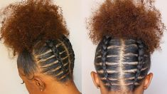 Backwards Cornrowed High Puff Rubber Band Method ft  Sassina Hair Clip Ins - YouTube