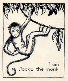 This is where I took a shiv from a gangbanger lemur. A Monkeys Tale by Hamilton Williamson illustrated by Berta and Elmer Hader 1929