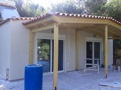 Πανωσήκωμα με μεταλλικό σκελετό και ξηρά Δόμηση στην Άνοιξη Pergola, Outdoor Structures, Outdoor Pergola