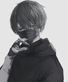 Dark Anime Guys, Cool Anime Guys, Sad Anime, Cute Anime Boy, Manga Anime, Manga Boy, Anime Art, Animes Emo, Vampire Boy