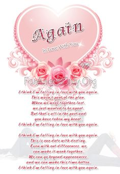poems about love | Again In Love With You : Love Poem Valentine day poem ...