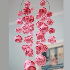 35 Awesome Nursery Mobiles Design: 35 Awesome Nursery Mobiles Design With Rose Flowers Ornament Girl Nursery, Nursery Decor, Nursery Ideas, Nursery Mobiles, Baby Mobiles, Room Ideas, Nursery Themes, Nursery Colours, Nursery Crafts