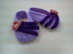 Wool purple shoes