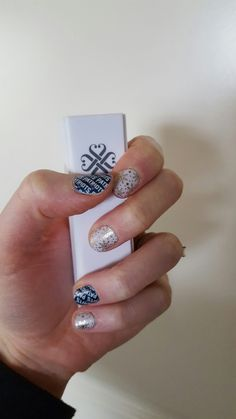 Jamberry Champagne Frost and Go New England Patriots
