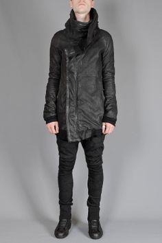 lamb leather hooded jacket - JULIUS - Layers London
