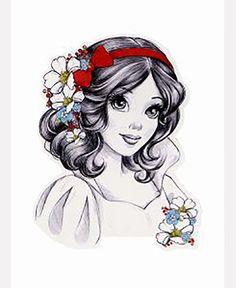 Snow white disney princess drawings, princesses disney, disney princess a. Disney Princess Drawings, Disney Princess Art, Disney Drawings, Cute Drawings, Drawing Disney, Punk Princess, Pencil Drawings, Princess Beauty, Princess Flower