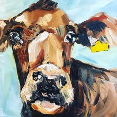 Breeds Of Cows, Farm Art, Cow Art, People Art, Freelance Illustrator, Oil Painting On Canvas, Cattle, Farming, Original Artwork