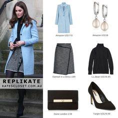 Kate Middleton, Duchess of Cambridge Outfit Inspiration. RepliKate outfit for le. Estilo Kate Middleton, Kate Middleton Outfits, Kate Middleton Style, Royal Fashion, Look Fashion, Womens Fashion, Duchess Kate, Duchess Of Cambridge, Classy Outfits