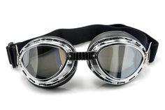 Neverland Vintage Style Aviator Pilot Motor Motorcycle Goggles Helmet Glasses Silver