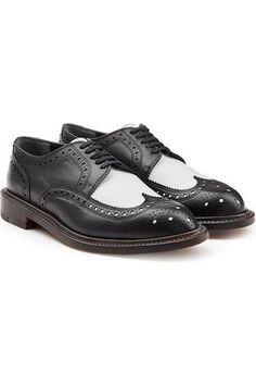 Chaussures richelieu bicolore noir/blanc  Robert Clergerie