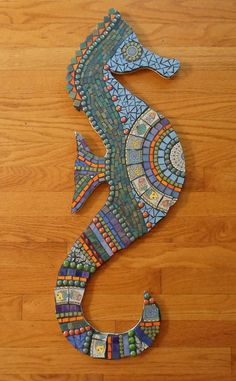 Mosaic Seahorse | Dishes, glass tile, stained glass, beads | Ree Maier | Flickr