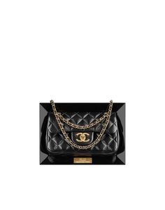 Lambskin flap bag in a plexiglass - CHANEL SS 2014. The mystery bag revealed!