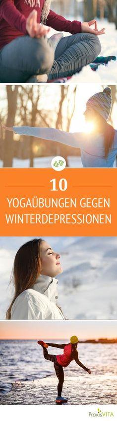 Kälte und Dunkelheit im Winter lösen oft Depressionen aus. Wir verraten, wie schon zehn Minuten Yoga am Tag gegen den Winterblues helfen!