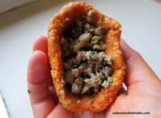 Making the baked kibbeh, oruk or icli kofte; a well worth, rewarding & delicious experience!