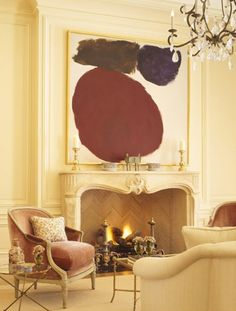love the chairs by the fireplace