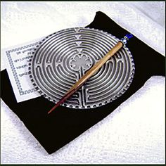 I used one of these little 5-inch Labyrinths to meditate during my chemo appts…