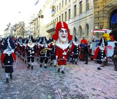 Basel, Switzerland  Known as Fasnacht, the largest Swiss popular festival.