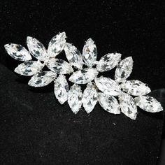 Wedding applique, Shoe clips applique, Hair comb applique,Brooch buckle,Bridal applique,  - Nothing at Back