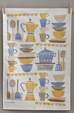 exhibiting at Top Drawer this year was Zoe Atwell print & pattern: TEA TOWELS Food Illustrations, Illustration Art, Fabric Patterns, Print Patterns, Fabric Design, Pattern Design, Kitchen Prints, Kitchen Mat, Kitchen Themes